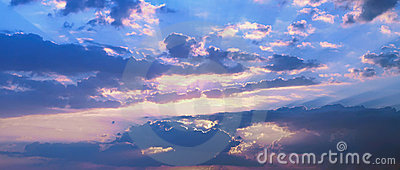 Panoramic skyscape