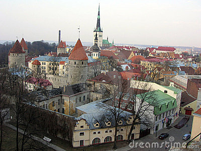 Panoramic Tallinn Oldtown