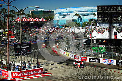 Panoramic of the Toyota Grand Prix of Long Beach Editorial Photography