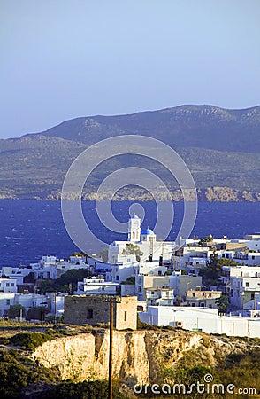 Panoramic view of Adamas Plaka Milos