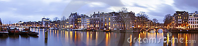 Panoramic view from Amsterdam Netherlands