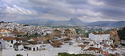Panoramic view of Antequera, Spain