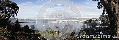 Panoramic view of Aquatic Park in San Francisco