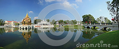 Panoramic view of Bang Pa-In Palace
