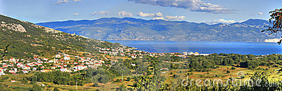 Panoramic view of Baska - croatian town
