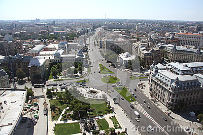 Panoramic view of Bucharest (Romania) Editorial Stock Photo