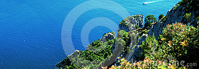 Panoramic view of Capri Island