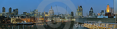 Panoramic view of City of London England UK Europe