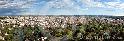 Panoramic View Of The City Of Nimes In France Royalty Free Stock Photos - Image: 24291818