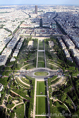 Panoramic view of the city of  Paris, France
