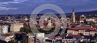 Panoramic view of Cluj Napoca, Transylvania