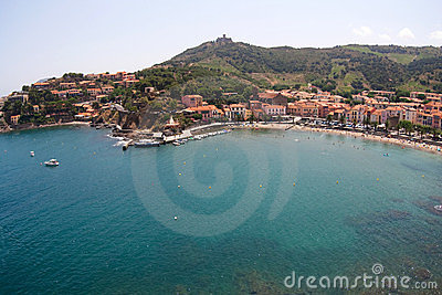 Panoramic view of Collioure, France, Europe