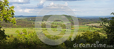 Panoramic view of country landscape