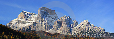 Panoramic View of Dolomiti Mountains
