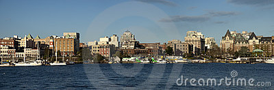 Panoramic View downtown Victoria, British Columbia