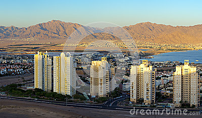 Panoramic view on Eilat city, Israel