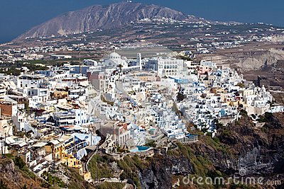 Panoramic view of Fira, Santorini