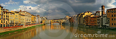 Panoramic view on Florence at sunset.