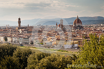 Panoramic view on Florence,Tuscany, Italy