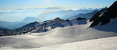 Panoramic view of glacier