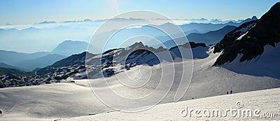 Panoramic view of glacier