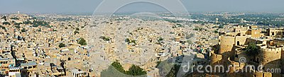 Panoramic view of golden city Jaisalmer,Thar desert,India