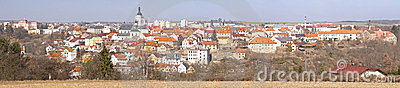 Panoramic view on a historical town