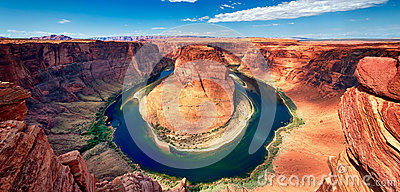 Panoramic view of Horseshoe Bend