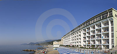 Panoramic view of hotel at Black Sea