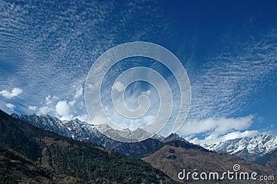 Panoramic view in Indian Himalays.