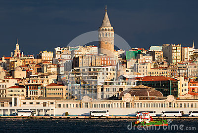 Panoramic view of Istanbul city