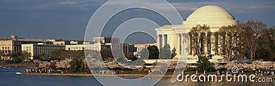 Panoramic view of Jefferson Memorial