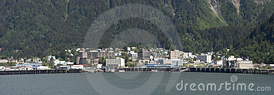 Panoramic View of Juneau, Capital of Alaska