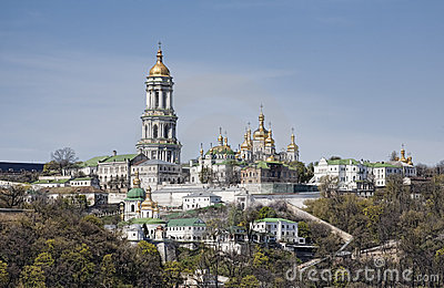 Panoramic view of Kiev Pechersk Lavra Monastery