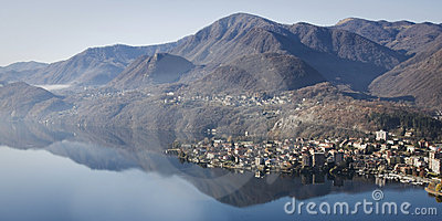 Panoramic view of lago d orta