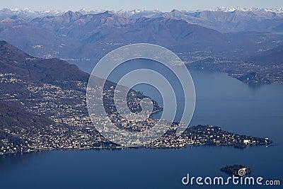 Panoramic view of lago maggiore