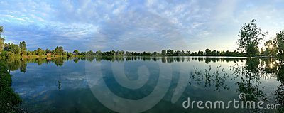 Panoramic view of a lake