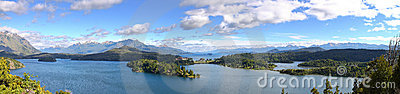 Panoramic view of lake Nahuel Huapi