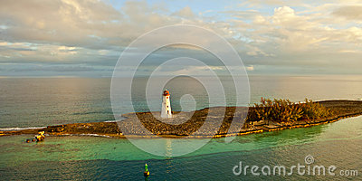 Panoramic view of lighthouse in bahamas