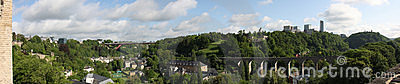 Panoramic view of Luxembourg