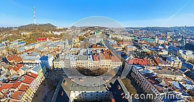The panoramic view of Lviv, Ukraine