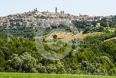 Panoramic view of Macerata