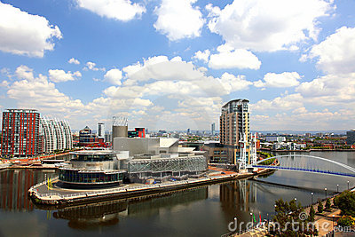 Panoramic view of Manchester, UK