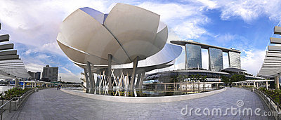 Panoramic view of Marina Bay Sands Editorial Image