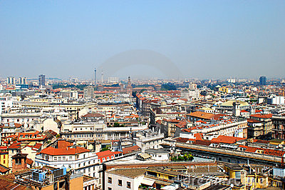 Panoramic View Of Milan, Italy Royalty Free Stock Photography - Image: 5410067