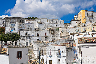 Panoramic view of Monte Sant Angelo. Puglia. Italy.