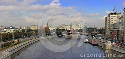 Panoramic view Moscow downtown Editorial Stock Photo