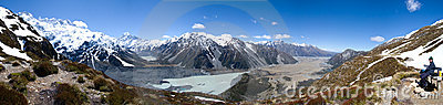Panoramic view of Mount Cook