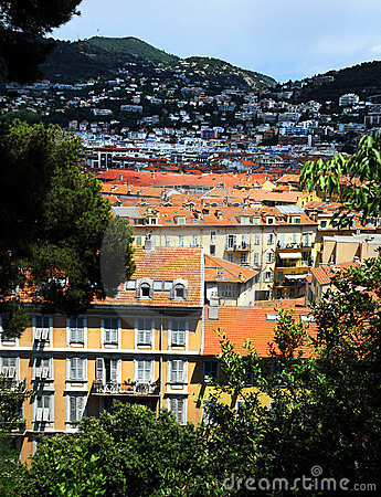 Panoramic view of Nice city