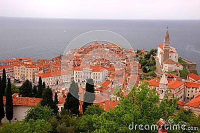Panoramic view of old venetian port